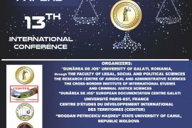 """Call for papers - 13th edition International Scientific Conference """"Exploration, Education and Progress in the Third Milenium"""""""